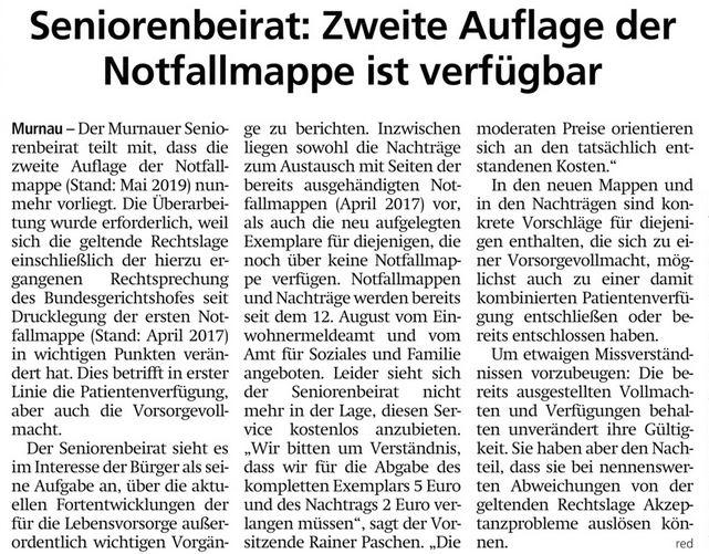 Tagblatt vom 21.08.2019